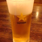 ステーキ カフェ ケネディ - サッポロ生ビール