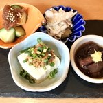板bar hazusi - 前菜 四種盛り