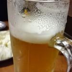 立呑処へそ - 生ビール  450円