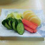 湯浅港 - 漬物盛り合わせ