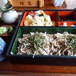 蝶家手打そば  - 料理写真:天ざる蕎麦