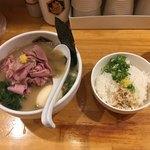 86960316 - 特製濃厚真鯛らーめん+真鯛雑炊丼(小)