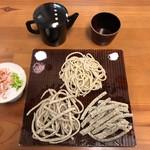 佐野蕎麦 - 三種盛りと飲む十割蕎麦