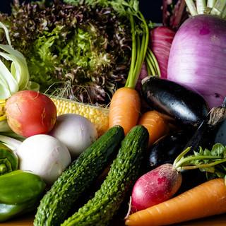 新鮮野菜も旨い◎地元で採れる旬野菜