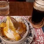 珈琲グルメ - スペシャルセットPart1(1390円) マンゴーとヨーグルトのババロア+ウインナーコーヒー(+70円)