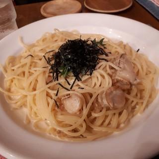 珈琲グルメ - 料理写真:スペシャルセットPart1(1390円) ホタテのウニクリームパスタ