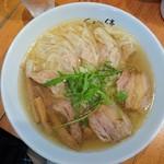 ShiNaChiKu亭 - 塩ワンタン麺1000円