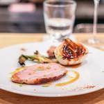 ラ・トラース - 料理写真:五條のばあく豚、葉玉ねぎ
