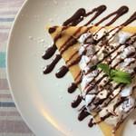 ブルーボーダーカフェ - チョコミントクリームクレープ