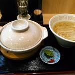 中村麺三郎商店 - 極上鶏白湯フカヒレ姿煮込みと塩そば 2800円(税込) 塩そばは+100円で大盛に。