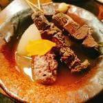 山小屋酒場 ケモノ - 熊のおでん3種(1000円)