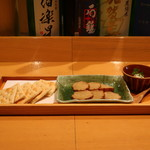 ぬる燗佐藤 - いぶりがっこ香味チーズ