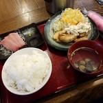 遊木 - 「チキン南蛮 お刺身付き しじみ汁 (650円)」
