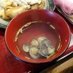 遊木 - ランチの「しじみ汁」