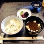京料理・寿司 竹林 - ご飯と吸物