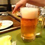てっぱんやき むー - ビールちゃん