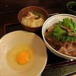86983939 - 牛丼(並)1300円と卵100円