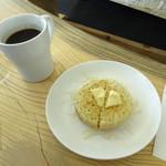 クランペット カフェ - クランペットバター&蜂蜜とアメリカーノ