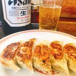 亀戸餃子 - 餃子(250円), ビール大(600円)