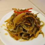 鼎泰豐 - 豆腐干と昆布のあえもの