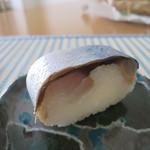 86989904 - 鯖寿司の皮あり部分(2018年6月)