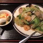 餃子・王 - 海鮮入りかた焼きそば
