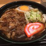 白山そば - 肉玉そば620円(2018.05)