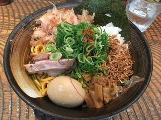 瞠 恵比寿店 - あぶらそば830円 麺大盛150円