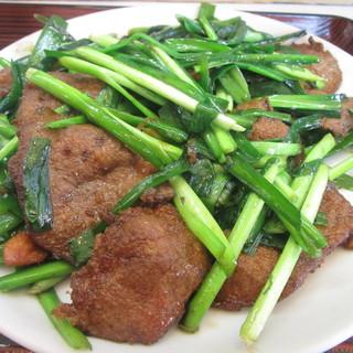 盛 - 料理写真:レバニラ炒め