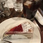 87003386 - ケーキセット(木苺のミルフィーユとアイスコーヒー)