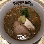 RAMEN RS 改 - 魚介白湯のアップ