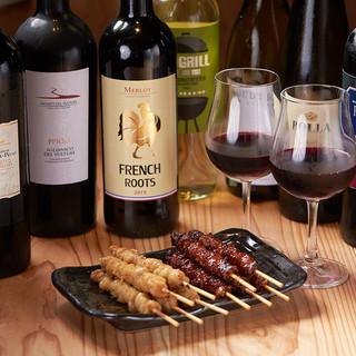 ワインと一緒に味わう【YAKITORI】は異次元のおいしさ。