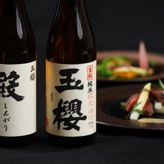 コース内容に合わせた日本酒のペアリング。