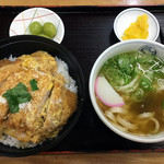 英ちゃんうどん - カツ丼セット900円