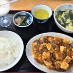 大黒家飯店 - 料理写真:日替定食(麻婆豆腐)830円