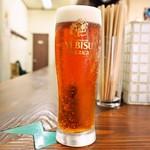 大衆食堂スタンド そのだ - 生ビールは「琥珀エビス」