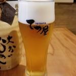 テッパンてつ屋 - ビール 450円