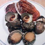 海鮮市場 AOHAMA 田町店 - ホタテ、はまぐり、サザエ、とこぶし、赤エビ