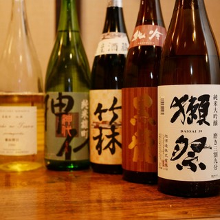 料理人おすすめの地酒がたくさん。お酒好きの方におすすめ
