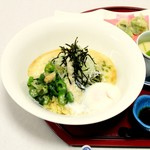 和彩食堂あけぼの - ぶっかけとろろ茶そば1600円