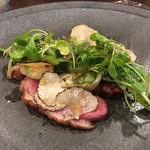 ル ビストロ メランジェ - 滝川産のチェリバレー鴨のサラダ仕立て サマートリュフ添え