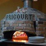 リストランテ アプリコート - マリオ・アクントのコンボ3は薪+ガス併用の最新の」窯です・・・。
