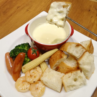 特製ソースのチーズフォンデュ