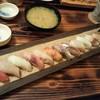 隠れ居坂屋 魚たつ - 料理写真:10食限定 15貫セット あら汁付き@756