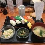 健康寿司海鮮家 - 平日限定日替わりランチ(10巻、780円)
