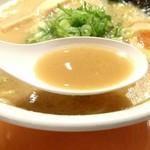 87037117 - 醤油白湯らーめん《スープ》【Jun.2018】
