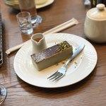 珈琲舎 表参道 - ゴルゴンゾーラチーズケーキ