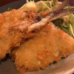 旬菜割烹 和しん - いわしフライ 380円