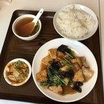 87047656 - 豚肉と揚げ豆腐炒め定食