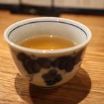 串のきいち - 最後は「お茶」が出てきます。